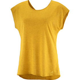 Salomon Comet t-shirt Dames, saffron
